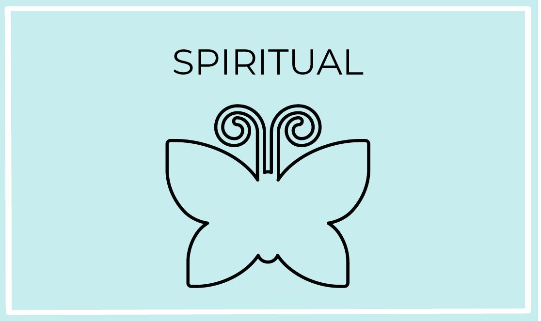 spiritual blue icon