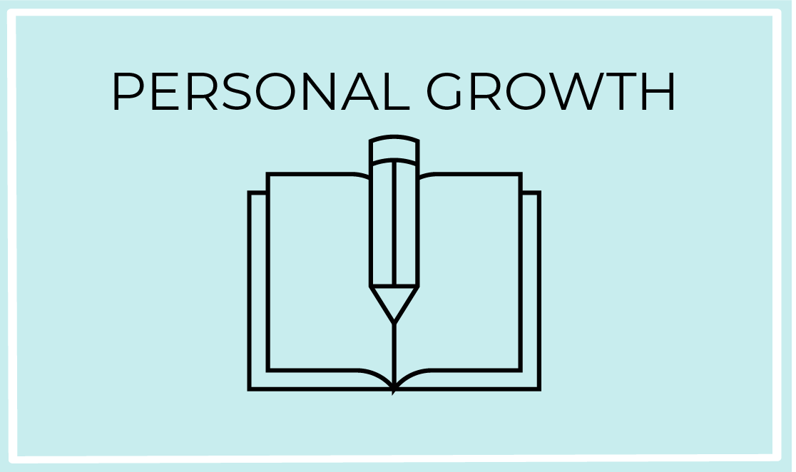 personal growth blue icon