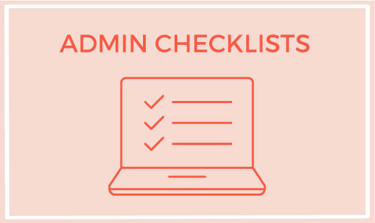 admin checklists packages